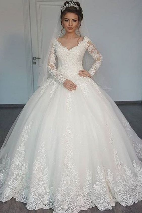 Glamorous Ball Gown Wedding Dresses for 2018 Trends
