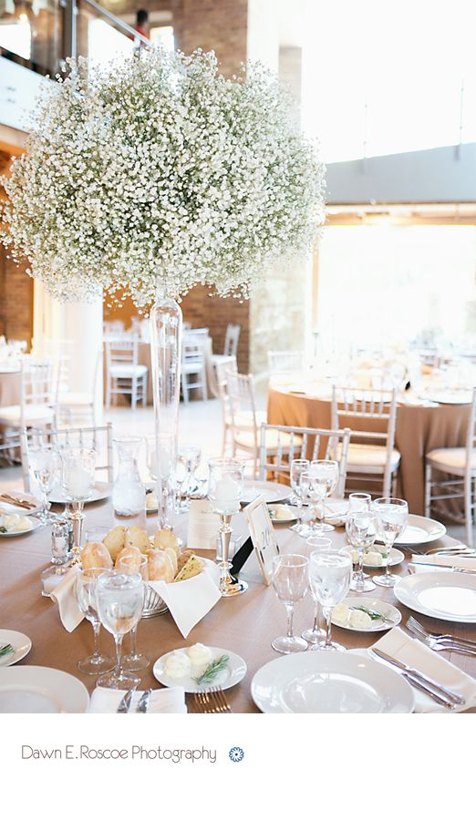 Baby's Breath wedding centerpieces