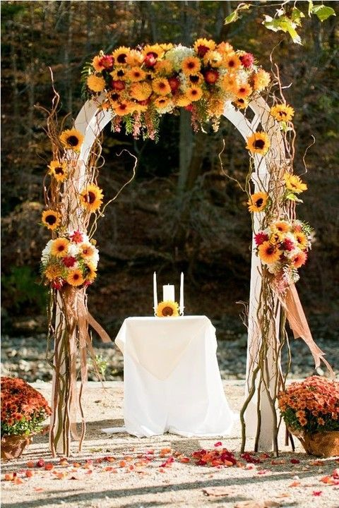Wedding idea For a Fall Wedding