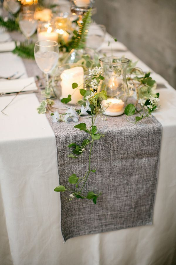 Trendy Rustic Wedding Table Runner Ideas To LOVE