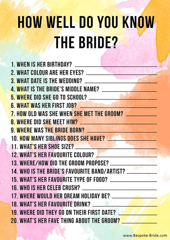 wedding shower game You Will Like