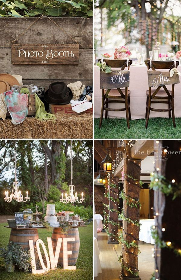 Romantic String Light Wedding Ideas